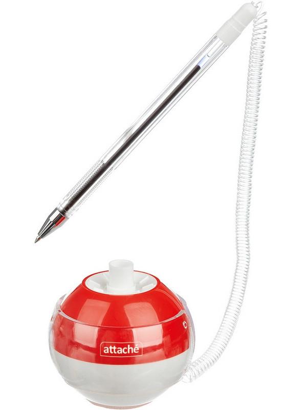 Ручка шариковая Attache Orbit корпус White-Red, стержень Blue 1094723