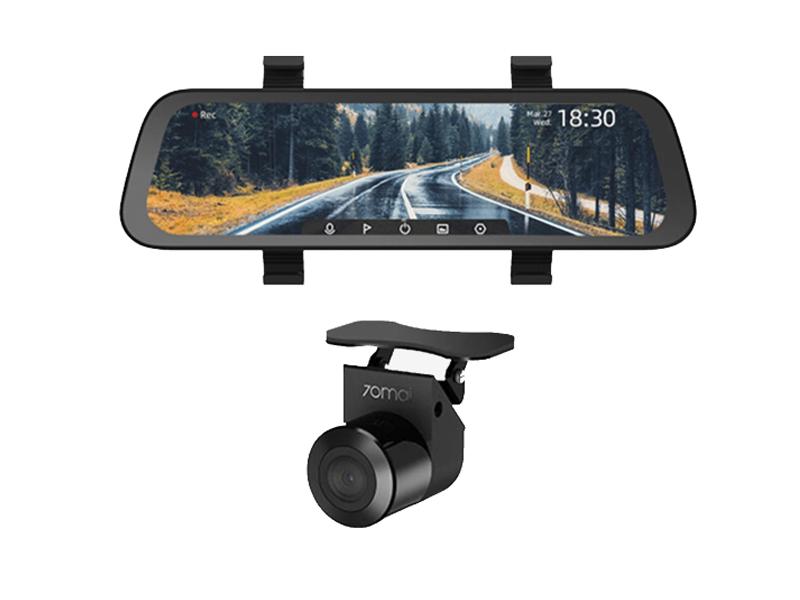 Видеорегистратор Xiaomi 70mai Rearview Dash Cam Wide Midrive D07 + Reversing RC04