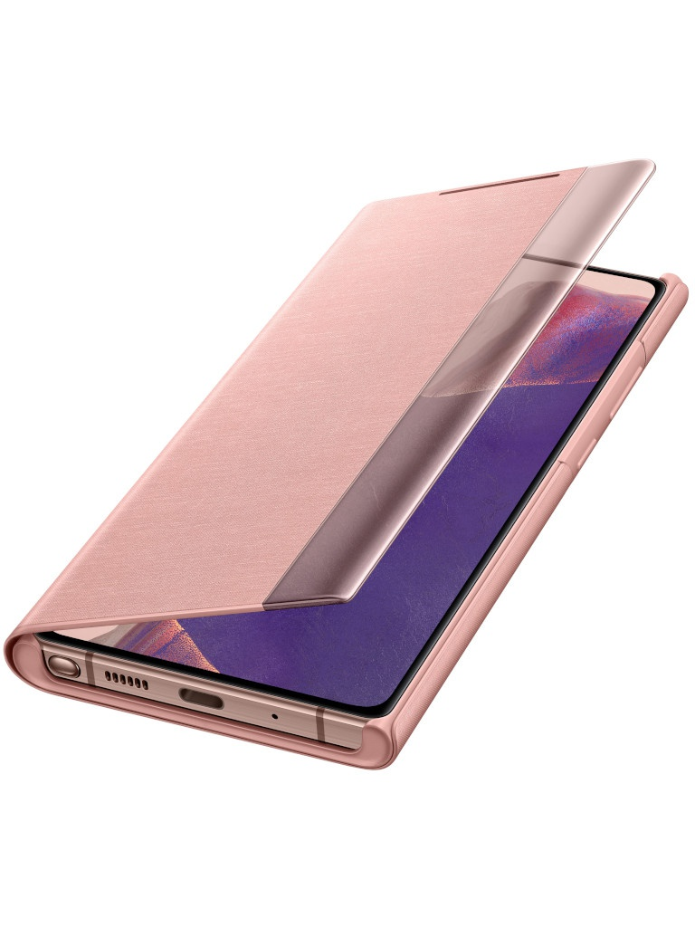 Чехол для Samsung Galaxy Note 20 Smart Clear View Cover Bronze EF-ZN980CAEGRU
