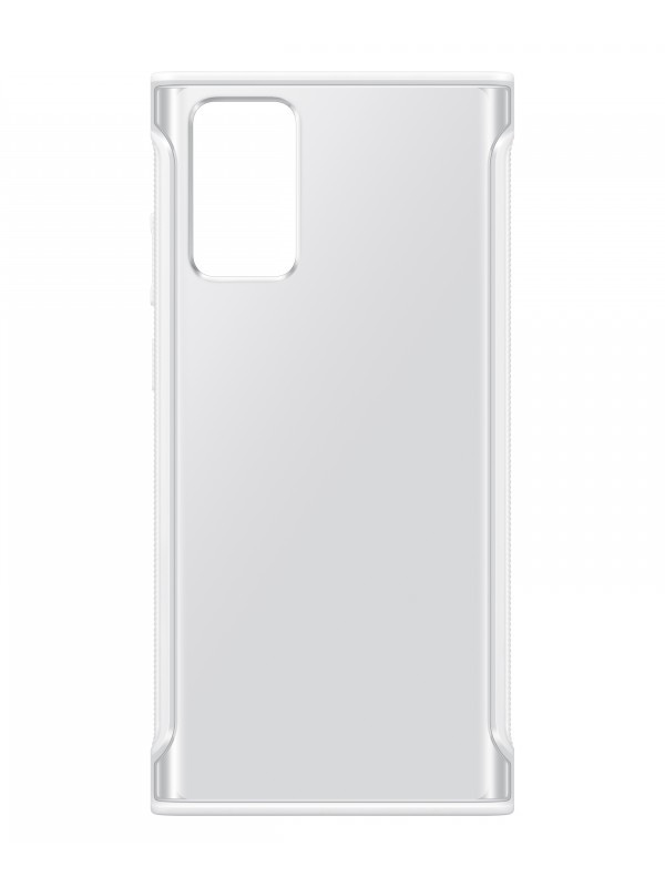 Чехол для Samsung Galaxy Note 20 Clear Protective Cover Transparent-White EF-GN980CWEGRU