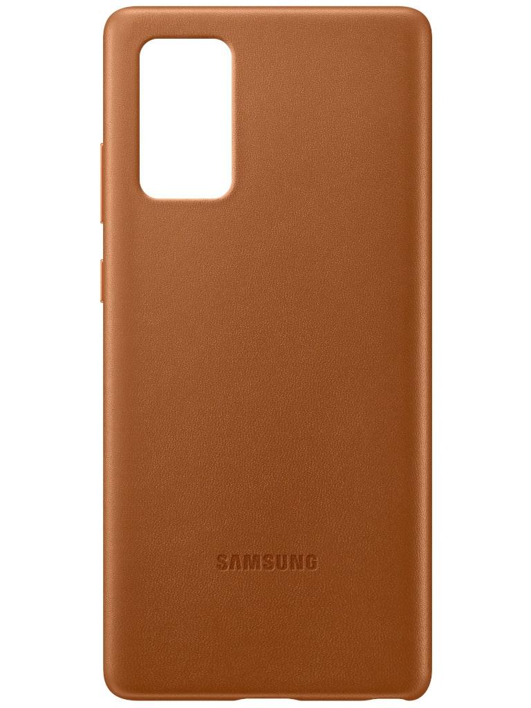 Чехол для Samsung Galaxy Note 20 Leather Cover Brown EF-VN980LAEGRU