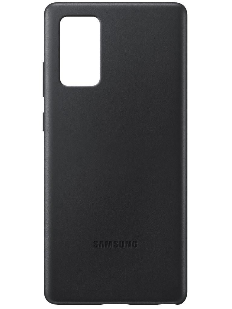 Чехол для Samsung Galaxy Note 20 Leather Cover Black EF-VN980LBEGRU