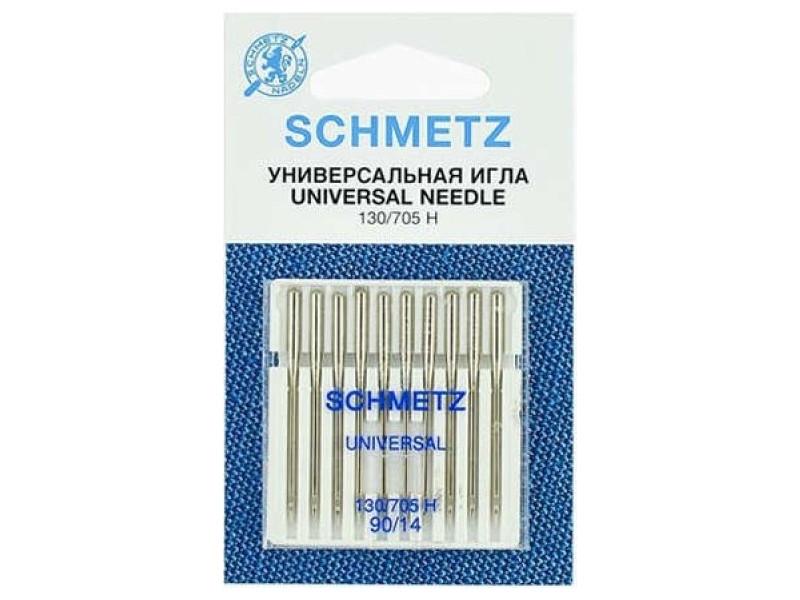 Набор игл Schmetz №90 130/705H 10шт тройная игла schmetz 80 3 130 705h dri