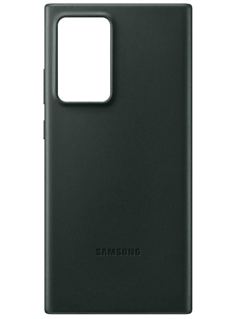 Чехол для Samsung Galaxy Note 20 Ultra Leather Cover Green EF-VN985LGEGRU samsung ef fa520 neon flip cover чехол для galaxy a5 2017 gold
