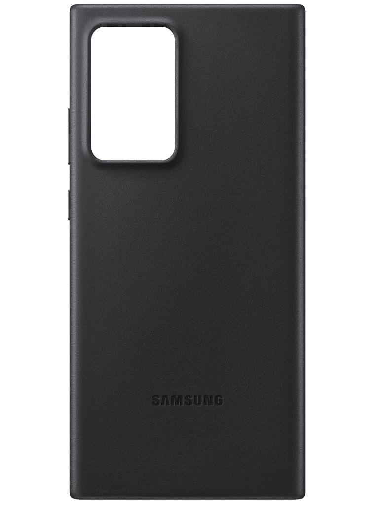 Чехол для Samsung Galaxy Note 20 Ultra Leather Cover Black EF-VN985LBEGRU