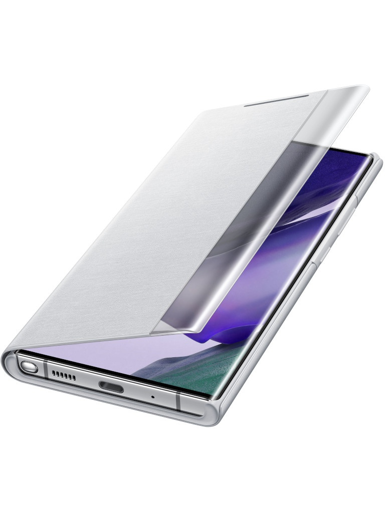 Чехол для Samsung Galaxy Note 20 Ultra Smart Clear View Cover Silver-White EF-ZN985CSEGRU