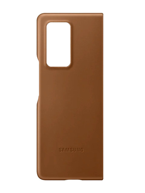 Чехол для Samsung Galaxy Z Fold 2 Leather Cover Brown EF-VF916LAEGRU
