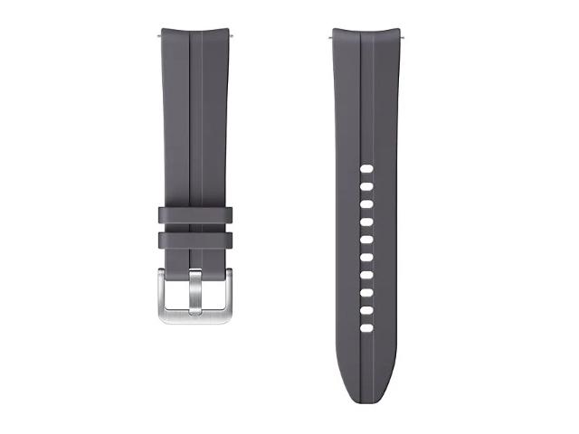 Аксессуар Ремешок для Samsung Galaxy Watch 3 41mm / 42mm Active 2 Ridge Sport Band Grey ET-SFR85SJEGRU
