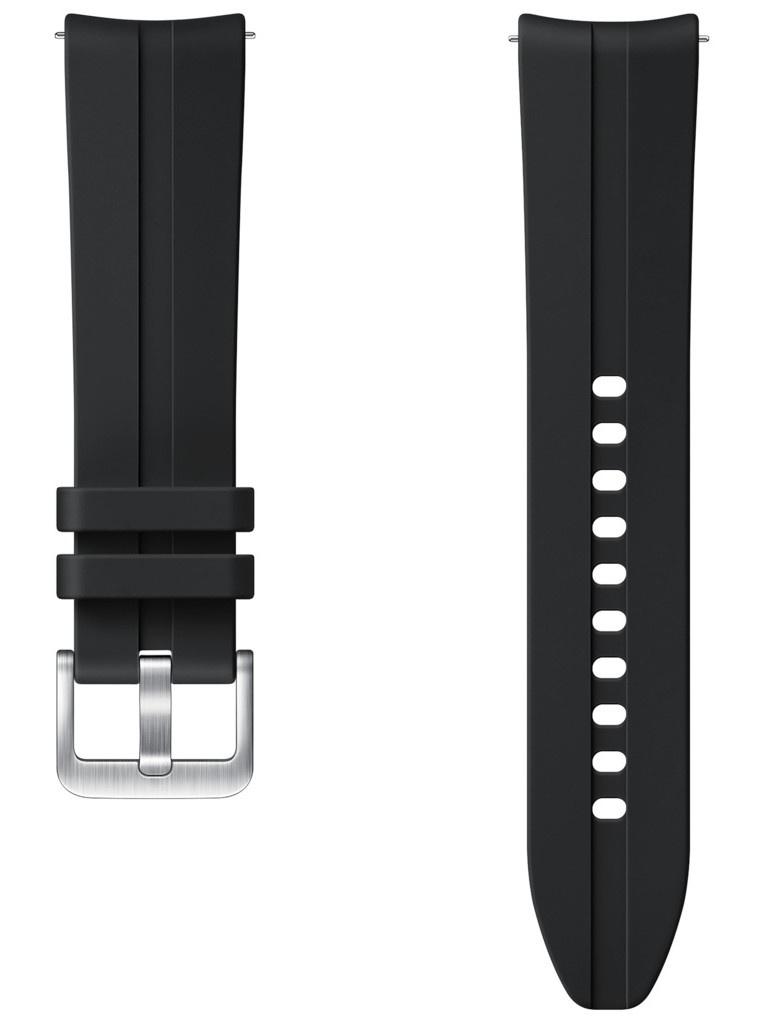 Аксессуар Ремешок для Samsung Galaxy Watch 3 41mm / 42mm Active 2 Ridge Sport Band Black ET-SFR85SBEGRU