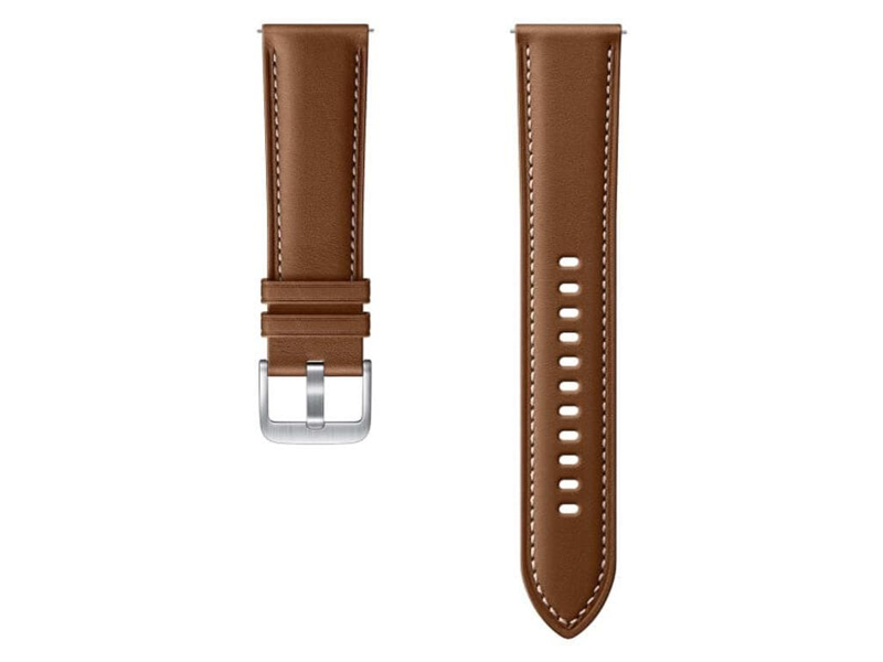 Аксессуар Ремешок для Samsung Galaxy Watch 3 41mm / 42mm Active 2 Stitch Leather Band Brown ET-SLR85SAEGRU