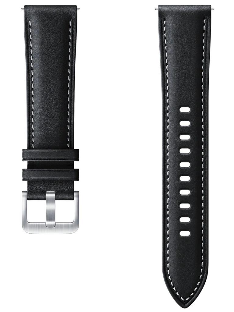 Аксессуар Ремешок для Samsung Galaxy Watch 3 41mm / 42mm Active 2 Stitch Leather Band Black ET-SLR85SBEGRU