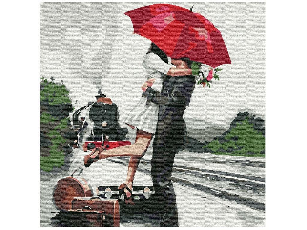 Картина по номерам Котеин Прощание 30x30cm KHM0058