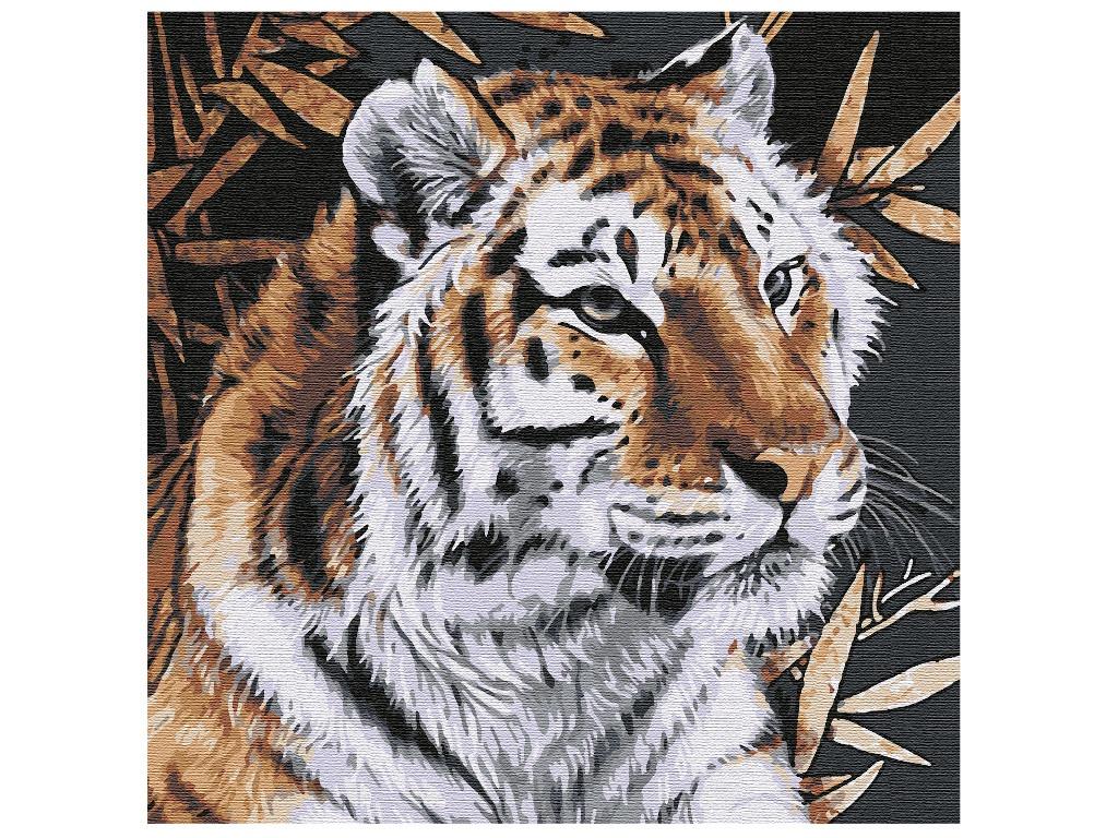 Картина по номерам Котеин Тигр 30x30cm KHM0057