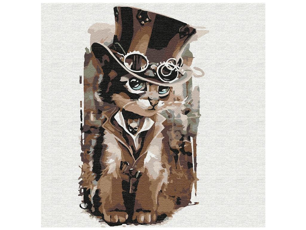 Картина по номерам Котеин Мистер кот 30x30cm KHM0050