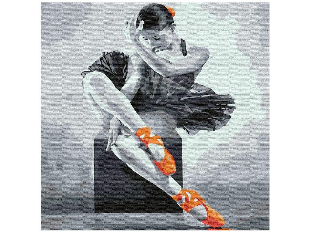 Картина по номерам Котеин Юная балерина 30x30cm KHM0032