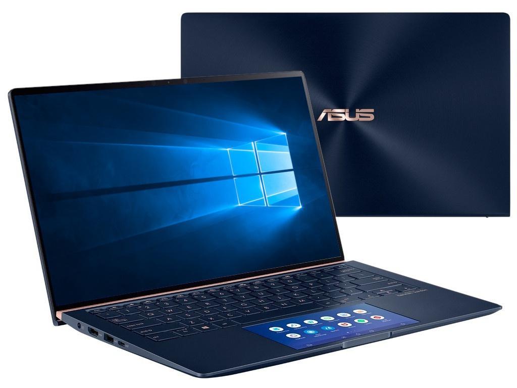 Ноутбук ASUS Zenbook UX434FQ-A5037R 90NB0RM5-M01680 (Intel Core i7-10510U 1.8 GHz/16384Mb/1024Gb SSD/nVidia GeForce MX350 2048Mb/Wi-Fi/Bluetooth/Cam/14.0/1920x1080/Windows 10 Pro 64-bit)