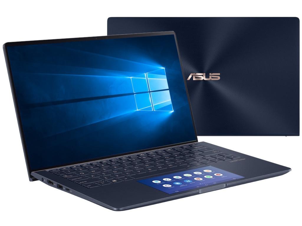 Ноутбук ASUS Zenbook UX334FLC-A3205R 90NB0MW1-M06490 (Intel Core i7-10510U 1.8 GHz/16384Mb/1024Gb SSD/nVidia GeForce MX250 2048Mb/Wi-Fi/Bluetooth/Cam/13.3/1920x1080/Windows 10 Pro 64-bit)