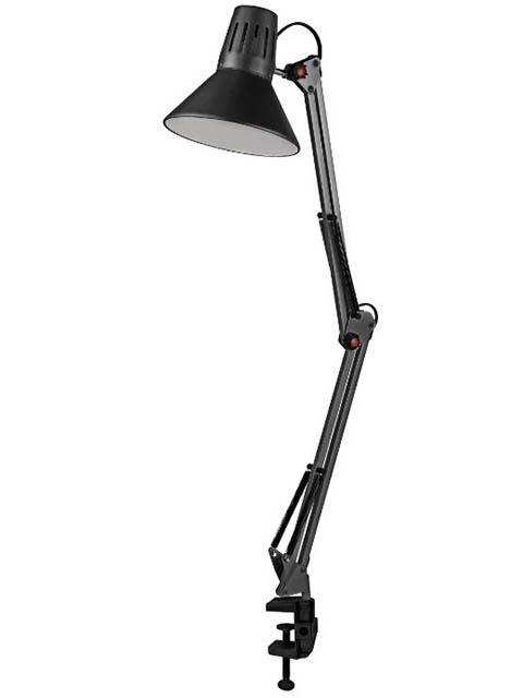 Настольная лампа Эра E27 40W Black N-121
