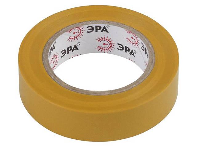 Изолента Эра 15mm х 10m Yellow 43904/43898