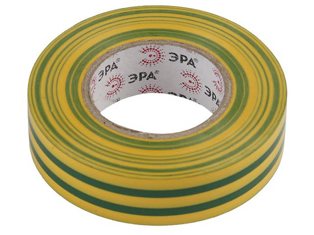 Изолента Эра 15mm х 20m Yellow-Green 43805/43799