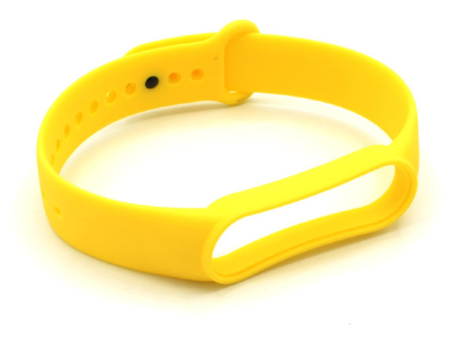 Aксессуар Ремешок Innovation для Mi Band 5 Silicone Yellow 17859