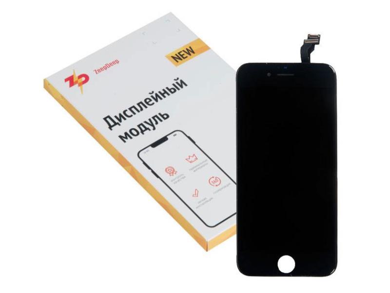 Фото - Дисплей ZeepDeep Premium для APPLE iPhone 6 RP Black в сборе с тачскрином 721256 дисплей zeepdeep premium для apple iphone 7 rp white в сборе с тачскрином 721270