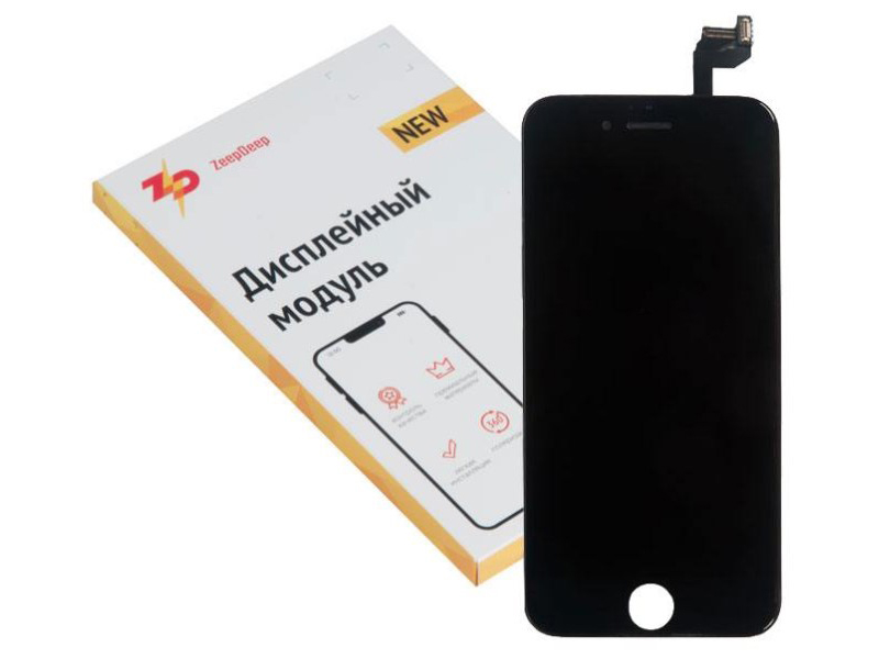 Фото - Дисплей ZeepDeep Premium для APPLE iPhone 6S RP Black в сборе с тачскрином 721263 дисплей zeepdeep premium для apple iphone 7 rp white в сборе с тачскрином 721270