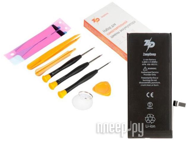 Инструмент для самостоятельного ремонта телефона ZeepDeep Аккумулятор APPLE iPhone 7 + набор инструментов+клеевые полоски+пошаговая инструкция 753510