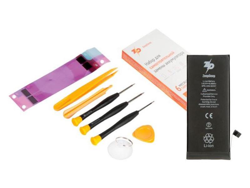 Инструмент для самостоятельного ремонта телефона ZeepDeep Аккумулятор APPLE iPhone 8 + набор инструментов+клеевые полоски+пошаговая инструкция 753512