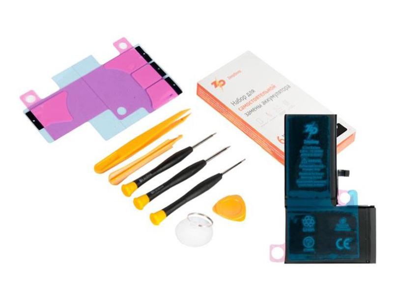 Инструмент для самостоятельного ремонта телефона ZeepDeep Аккумулятор APPLE iPhone X + набор инструментов+клеевые полоски+пошаговая инструкция 749821
