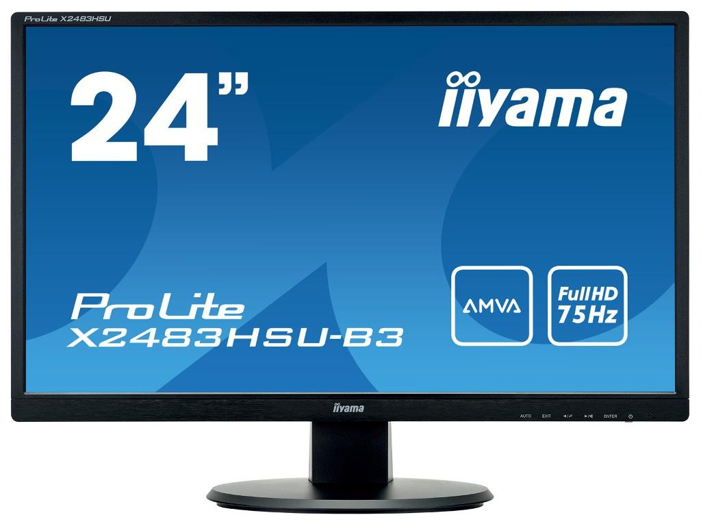 Монитор Iiyama 24 ProLite X2483HSU-B3 Black Выгодный набор + серт. 200Р!!!