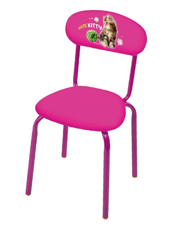 Детский стул Nika СТУ6 С котенком Pink