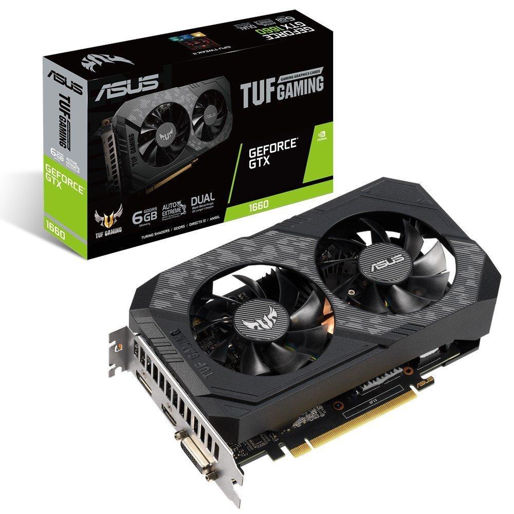 Видеокарта ASUS TUF GeForce GTX 1660 Super Gaming 1530Mhz PCI-E 3.0 6144Mb 14002Mhz 192 bit DP HDMI DVI TUF-GTX1660S-6G-GAMING Выгодный набор + серт. 200Р!!!