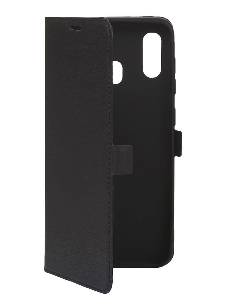 Чехол Krutoff для Samsung Galaxy A20/A30 A205/A305 Black 10285 силиконовый чехол borasco soft touch с микрофиброй для samsung a205 a305 galaxy a20 a30 красный