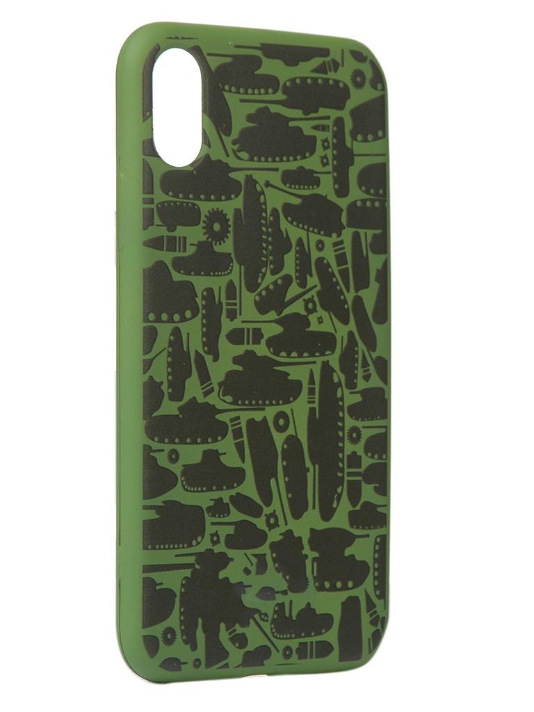 Чехол Krutoff для APPLE iPhone X/Xs Technics Military Green 10349