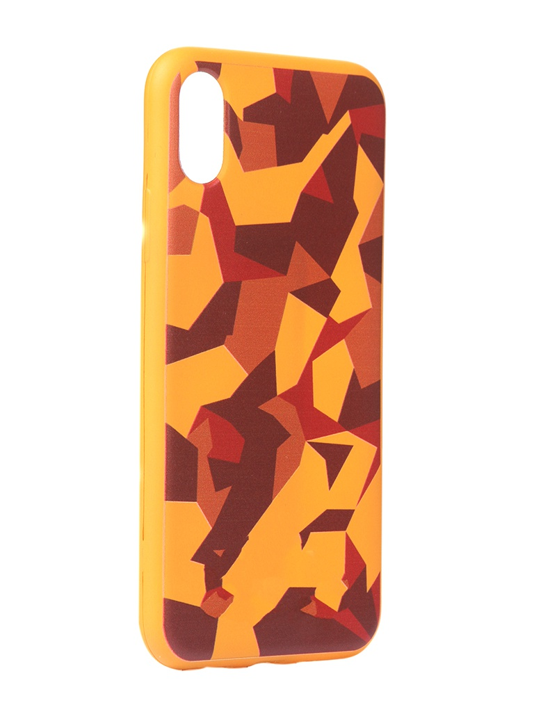 Чехол Krutoff для APPLE iPhone X/Xs Polygonal Military Colour 10347