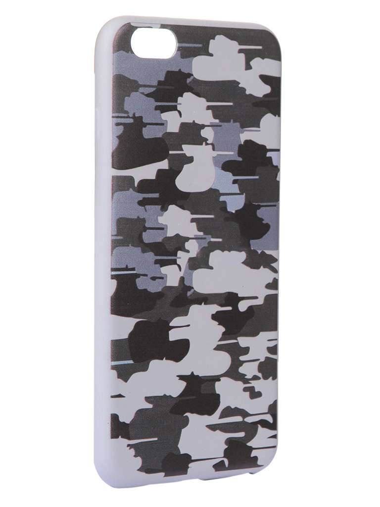 Чехол Krutoff для APPLE iPhone 6/6S Plus Pattern Military Grey 10318