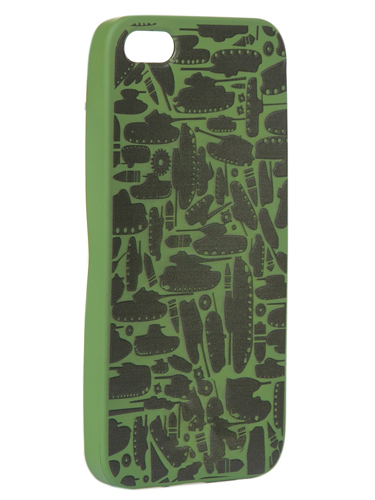Чехол Krutoff для APPLE iPhone 5/5S/SE Technics Military Green 10311