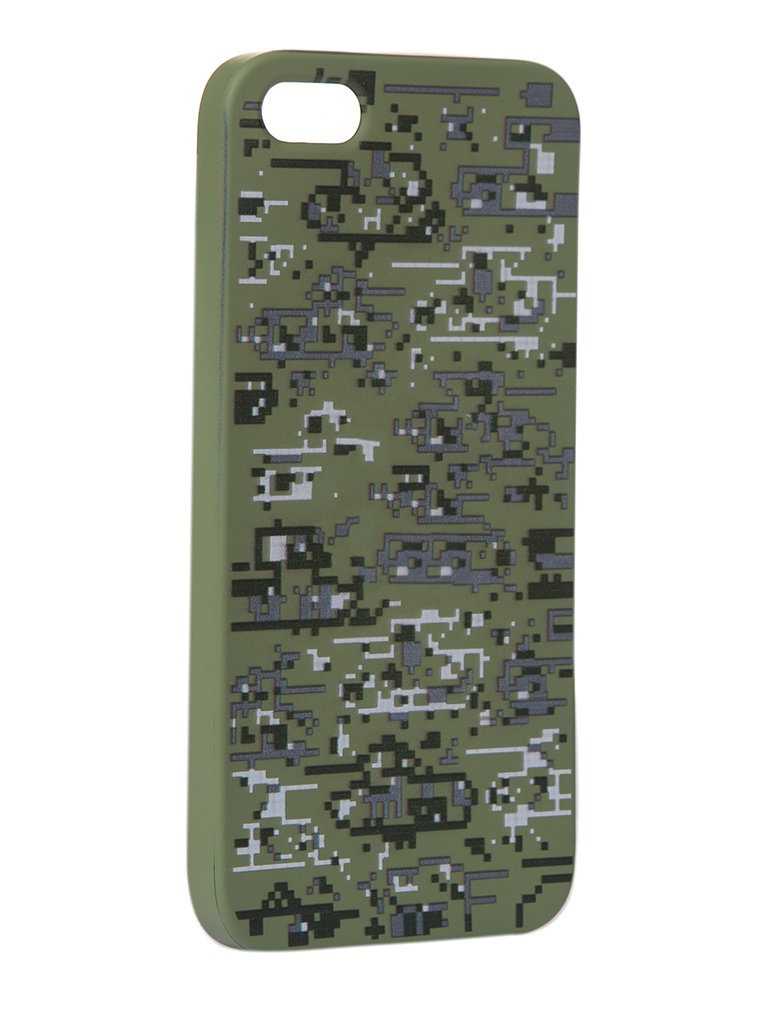 Чехол Krutoff для APPLE iPhone 5/5S/SE Pixel Military Desert 10307