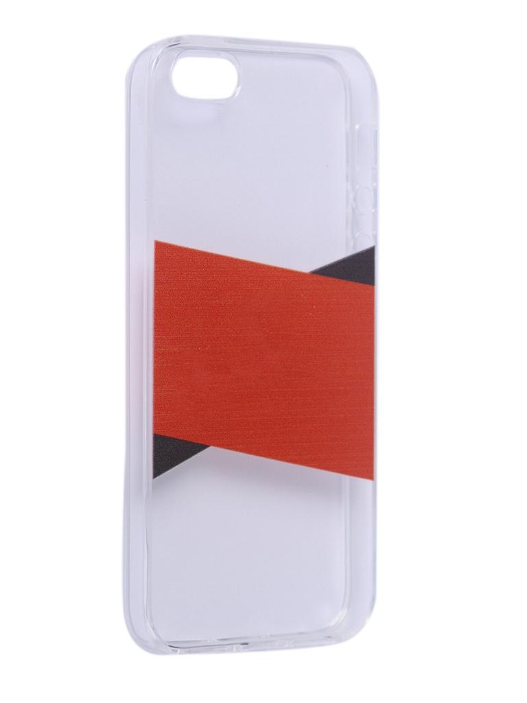 Чехол Krutoff для APPLE iPhone 5/5S/SE Stripes 10310