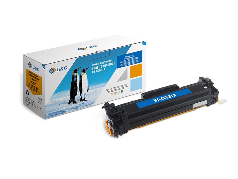 Картридж G&G NT-CC531A для HP Color LaserJet CM2320/CP2025 Canon MF8330/8350 2800k