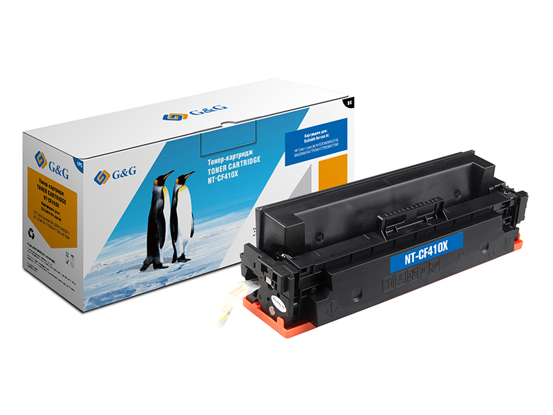 Картридж G&G NT-CF410X для HP LaserJet Color M452dn/M477fdn 6500k