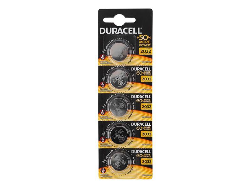 Батарейка CR2032 - Duracell DR CR2032/5BL EU (5 штук)