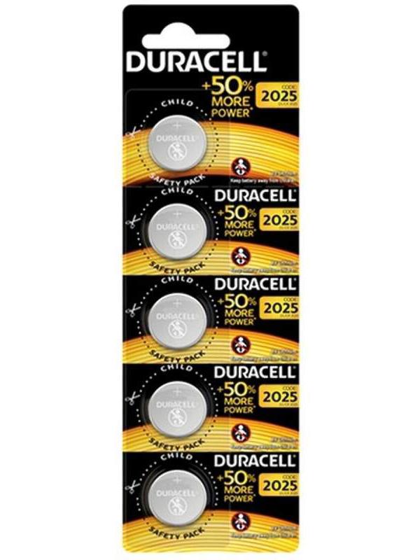 Батарейка CR2025 - Duracell DR CR2025/5BL EU (5 штук)