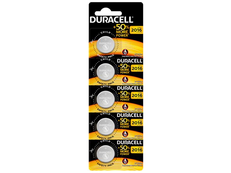 Батарейка CR2016 - Duracell DR CR2016/5BL EU (5 штук)