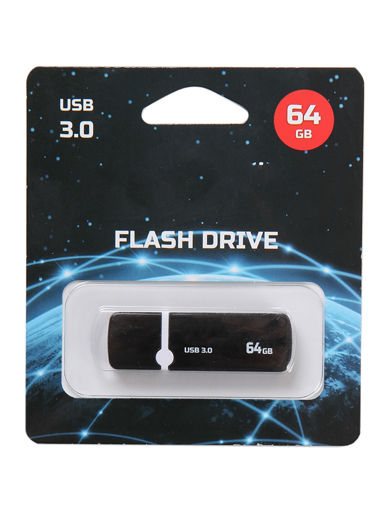 Фото - USB Flash Drive 64Gb - Perfeo USB 3.0 C08 Black PF-C08B064 хаб usb perfeo usb hub 4 ports black pf hyd 6001h pf_a4884