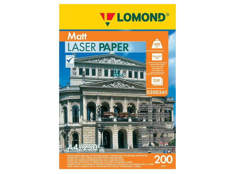 Фотобумага Lomond A4 200g/m2 матовая двухсторонняя 250 листов 300341