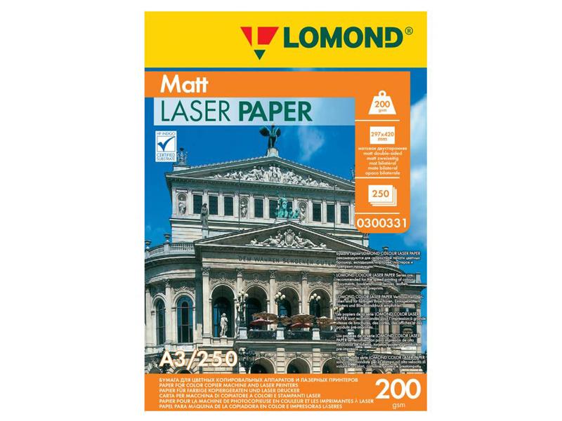 Фотобумага Lomond A3 200g/m2 матовая двухсторонняя 250 листов 300331