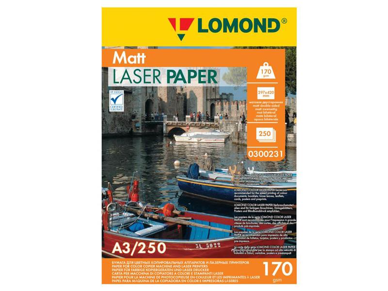 Фотобумага Lomond A3 170g/m2 матовая двухсторонняя 250 листов 300231
