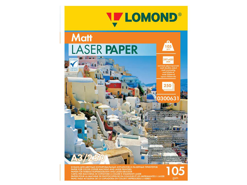 Фотобумага Lomond A3 105g/m2 матовая двухсторонняя 250 листов 300631